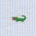 Alligator Seersucker Fabric | Embroidered Seersucker Fabric