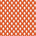 Orange and White Fabric