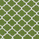 Dark Lime Green Quatrefoil Fabric | Quatrefoil Fabric