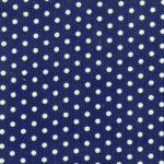 Polka Dot Corduroy Fabric - Navy | Printed Corduroy Fabric