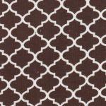 Brown Quatrefoil Fabric | Quatrefoil Fabric Wholesale