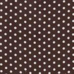 Polka Dot Corduroy Fabric - Brown | Printed Corduroy Fabric