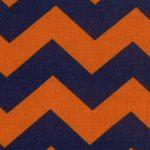 Orange and Blue Chevron Fabric | Orange and Blue Fabric - Print #1305