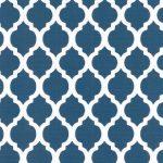 Navy Quatrefoil Fabric | Quatrefoil Fabric | Wholesale Fabric - Print #1731