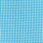 Turquoise Seersucker Fabric - Check | 100% Cotton Seersucker