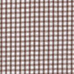 Brown Seersucker Fabric | Seersucker Check Fabric - Choc. Brown