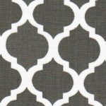 Grey Quatrefoil Fabric | Quatrefoil Fabric | Wholesale Fabric - Print #1421-1