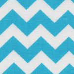 Turquoise Chevron Fabric | Cotton Chevron Fabric - Print #1594