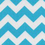 Turquoise Chevron Fabric | Cotton Chevron Fabric - Print #1594
