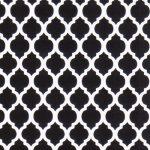 Black and White Quatrefoil Fabric |Quatrefoil Fabric Wholesale