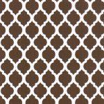 Brown Quatrefoil Fabric | Quatrefoil Fabric | Wholesale Fabric - Print #1742