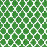 Green Quatrefoil Fabric | Quatrefoil Fabric | Wholesale Fabric - Print #1743