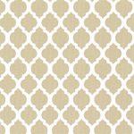 Khaki Quatrefoil Fabric | Quatrefoil Fabric | Wholesale Fabric - Print #1744
