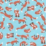 Wholesale Cotton Fabric - Fox Print Fabric - 1748