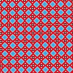 Geometric Fabric | Red and Blue Fabric | Wholesale Cotton Fabric - Print #1824