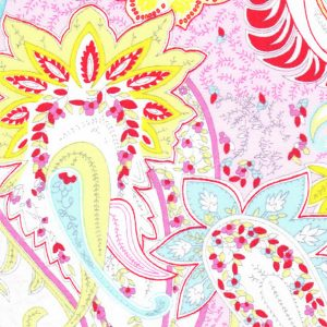 Pink Paisley Fabric - Paisley Print Fabric- 1828