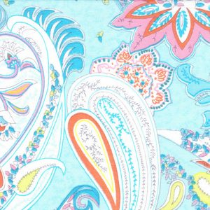 Blue Paisley Fabric: Print #1829 - Paisley Print Fabric 1829