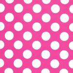 Raspberry and White Dot Fabric   Dot Fabric - Print #1830
