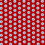 Red and Turquoise Dot Fabric | Dot Fabric - Print #1852