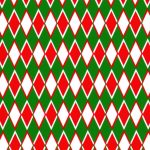 Diamond Print Fabric - Red and Green | Christmas Fabric