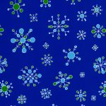 Snowflake Fabric | Christmas Fabric - Royal - Print 1863