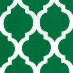 Kelly Green Quatrefoil Fabric | Quatrefoil Fabric - Print #1418