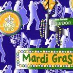 Mardi Gras Fabric - Wholesale Cotton Fabric - 1916