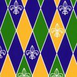 Mardi Gras Fabric - Fleur De Lis - Wholesale Cotton Fabric - 1918