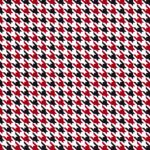 Red and Black Houndstooth Fabric | Mini Houndstooth Fabric