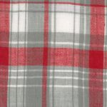 Madras Plaid Fabric #1| Red and Grey Fabric | Cotton Madras Fabric