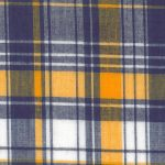 Madras Plaid Fabric #3 - Purple and Gold | Purple and Gold Fabric