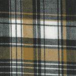 Madras Plaid Fabric - Black and Bronze | Cotton Madras Fabric