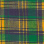 Madras Plaid Fabric - Green, Purple and Yellow | Mardi Gras Plaid