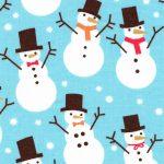 Snowman Print Fabric   Christmas Cotton Fabric - 100% Cotton