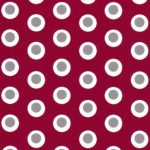 Dot Fabric- Red and Grey | Red and Gray Fabric - #1974