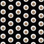 Dot Fabric - Black and Bronze | Wholesale Polka Dot Fabric