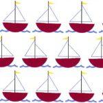 Red Sailboat Fabric | Sailboat Fabric | Nautical Baby Fabric