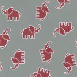 Red Elephant Fabric