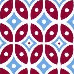 Red and Blue Geometric Fabric - Print #2014 | Geometric Fabric Prints