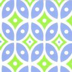 Blue and Green Geometric Fabric - #2016 | Geometric Cotton Fabric