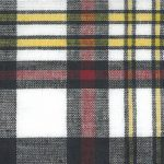 Madras Plaid Fabric - Red, Yellow, and Black | Madras Fabric Wholesale