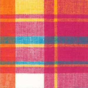 Madras Plaid Fabric: Pink, Yellow, & Blue | Madras Fabric Wholesale