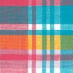 Madras Plaid Fabric - Pink, Yellow and Blue | Madras Plaid