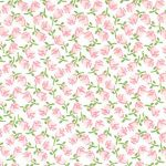 """Pink Rosebud Fabric - 100% Cotton 