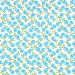 "Blue Rose Fabric - 100% Cotton | Rose Cotton Fabric - 60"" Width"