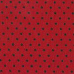 Black and Red Polka Dot Fabric - 100% Cotton | Polka Dots Fabric Wholesale