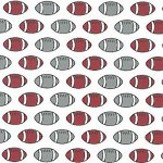Football Print Fabric: Red and Gray | Football Fabric Cotton - 100% Cotton