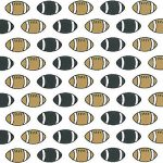 Football Print Fabric: Black and Bronze | Football Fabric Cotton - 100% Cotton