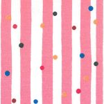 Multiple Dots on Pink Stripe Fabric