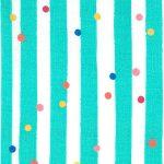 Aqua and White Striped Fabric: 100% Cotton | Wholesale Striped Fabric